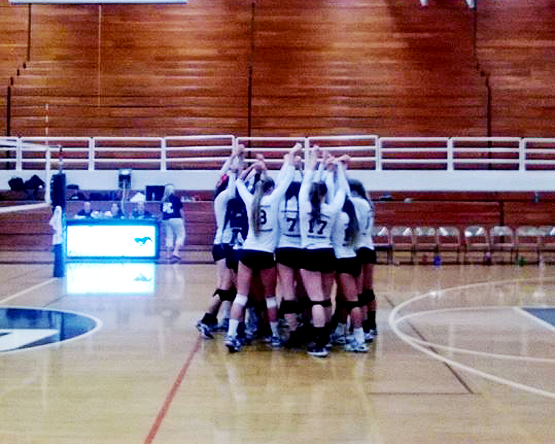 Girls Volleyball Faces Off League Rival