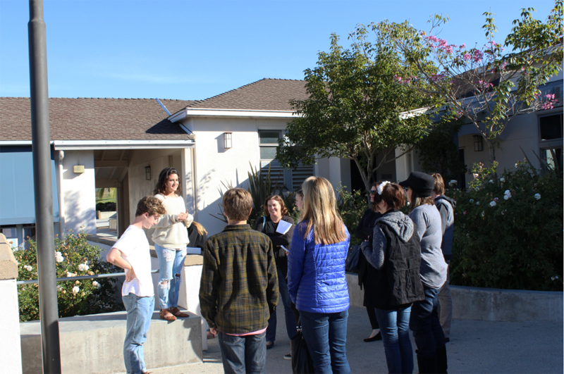 Middle School Students Tour Campus