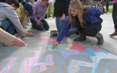 Homeroom Olympics Chalk Art Preview