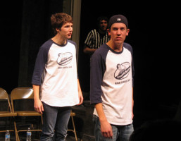 Comedy Sportz players Daniel Alguire and Mitch Lange.