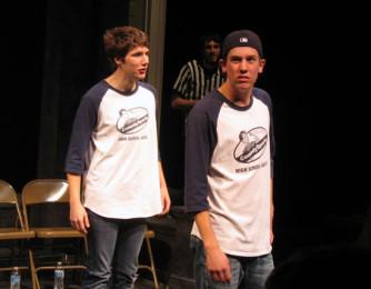 Comedy Sportz players Daniel Alguire and Mitch Lange.