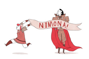 "Ninmona Banner (Reading ""Nimona"")"