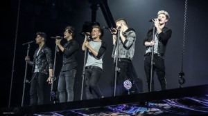 L-R, Zayn Malik, Harry Styles, Louis Tomlinson, Liam Payne and Niall Horan in TriStar Pictures' One Direction: This Is Us.