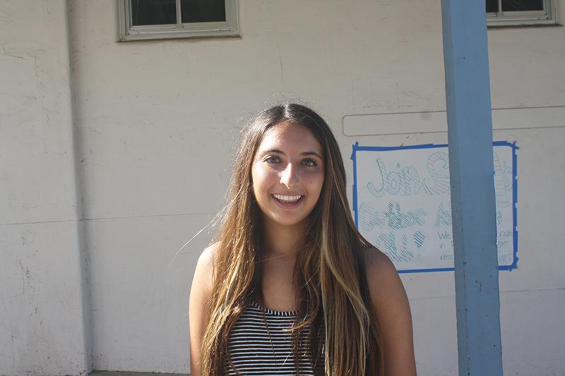 """I'm a 49'ers fan."" - Sophomore Natalie Haghani"