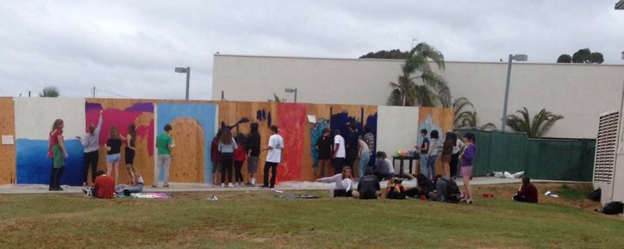 Today At SDA: Work on New Mural Begins