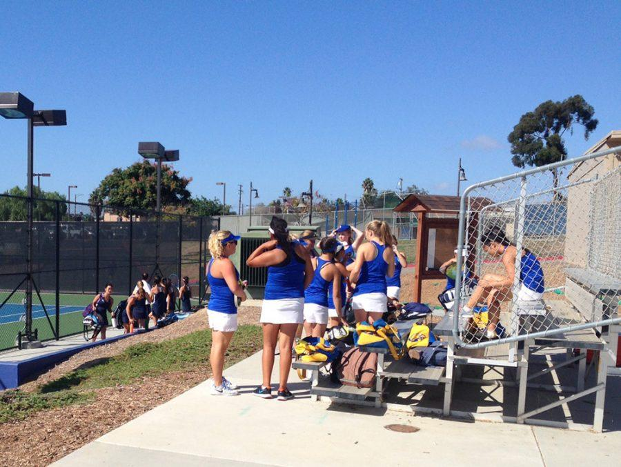 Today at SDA:  Varsity Tennis Prepares for Home Match