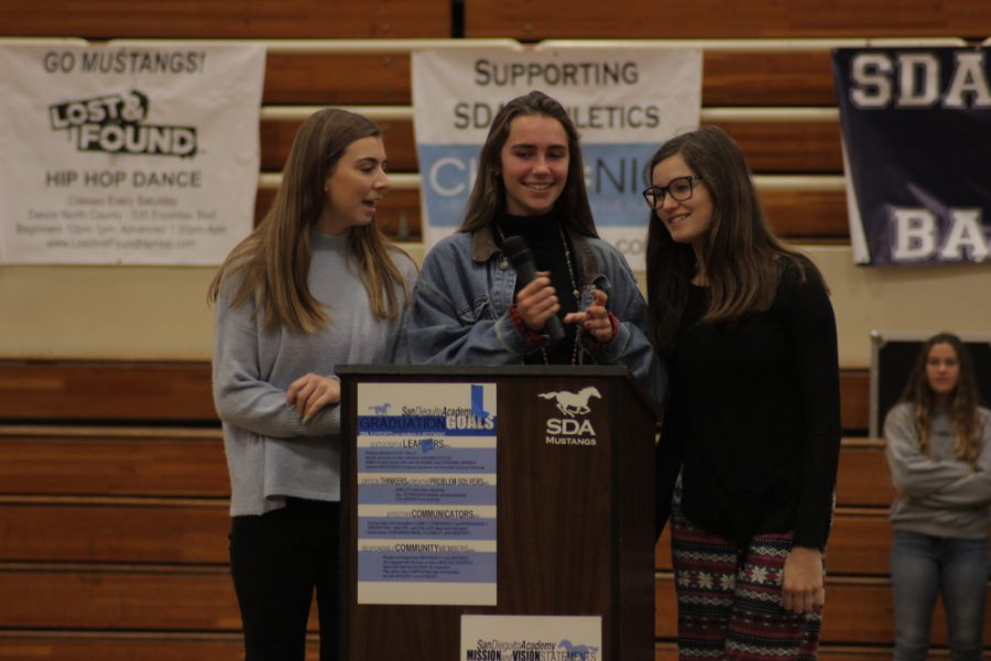 Candidates for  senior directors Parisi, Whalen and Noyes, juniors, gave speeches at the nominating convention.