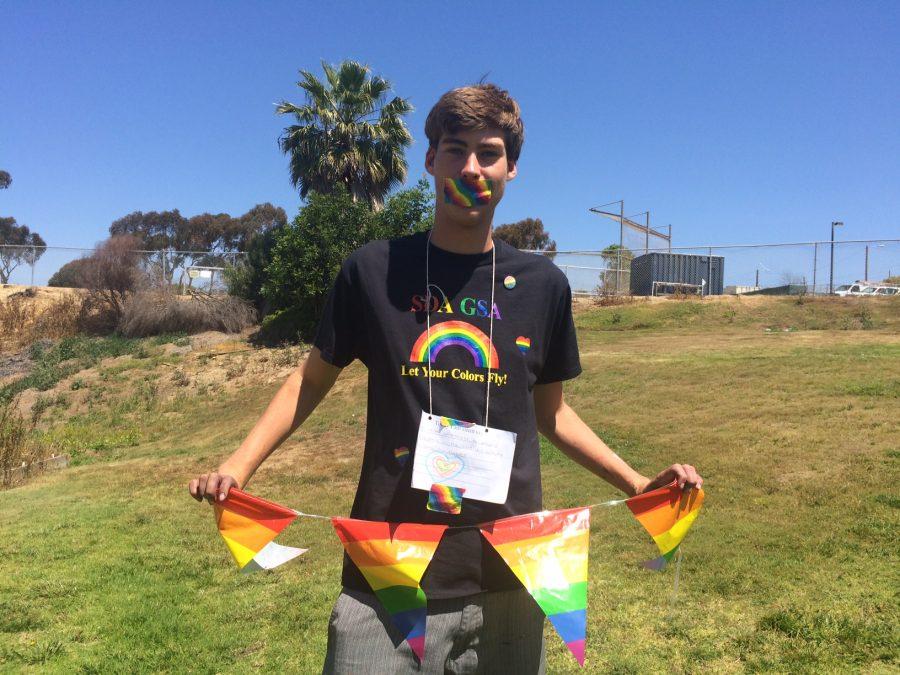 Stoner-Osborne spent the day in silence on behalf of mistreatment towards the LGBT+ community.