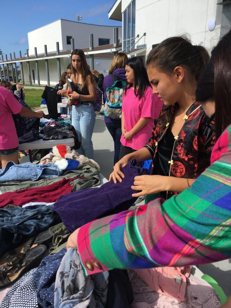 Students Trade Clothing in Homeroom Olympics Event