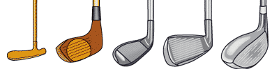 the different types of golfers A golf club is a club used to hit a golf ball in a game of golf each club is composed of a shaft with a grip and a club head each club is composed of a shaft with a grip and a club head.