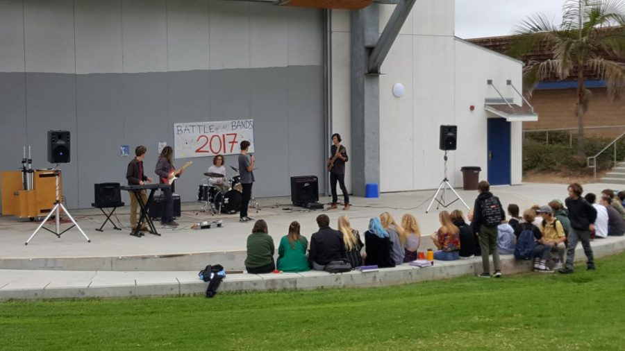 Rubenstein Drive By played a set in front of the PAC  today at lunch.