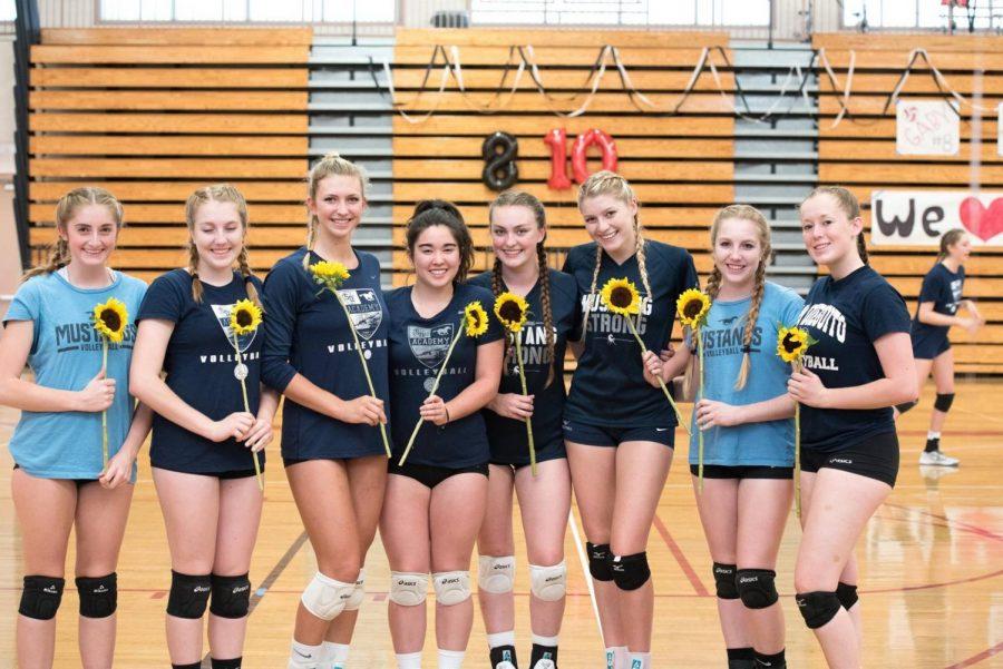 Girls Volleyball Senior Night Celebrate Eight Departing Students