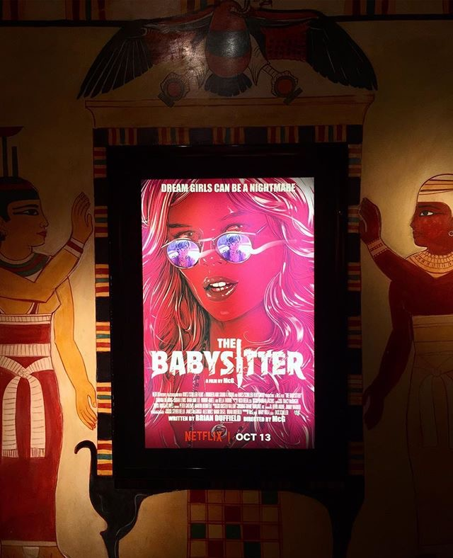 A+poster+for+%22The+Babysitter%2C%22+which+was+released+on+Oct.+13%2C+is+featured+at+the+Vista+Theater