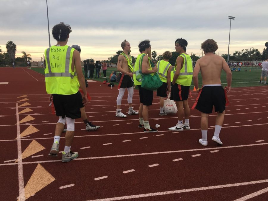 One+team+sported+neon+vests+with+nicknames+written+on+the+back.