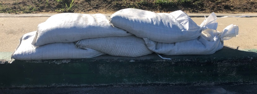 Sandbags are useful in protecting against floods.