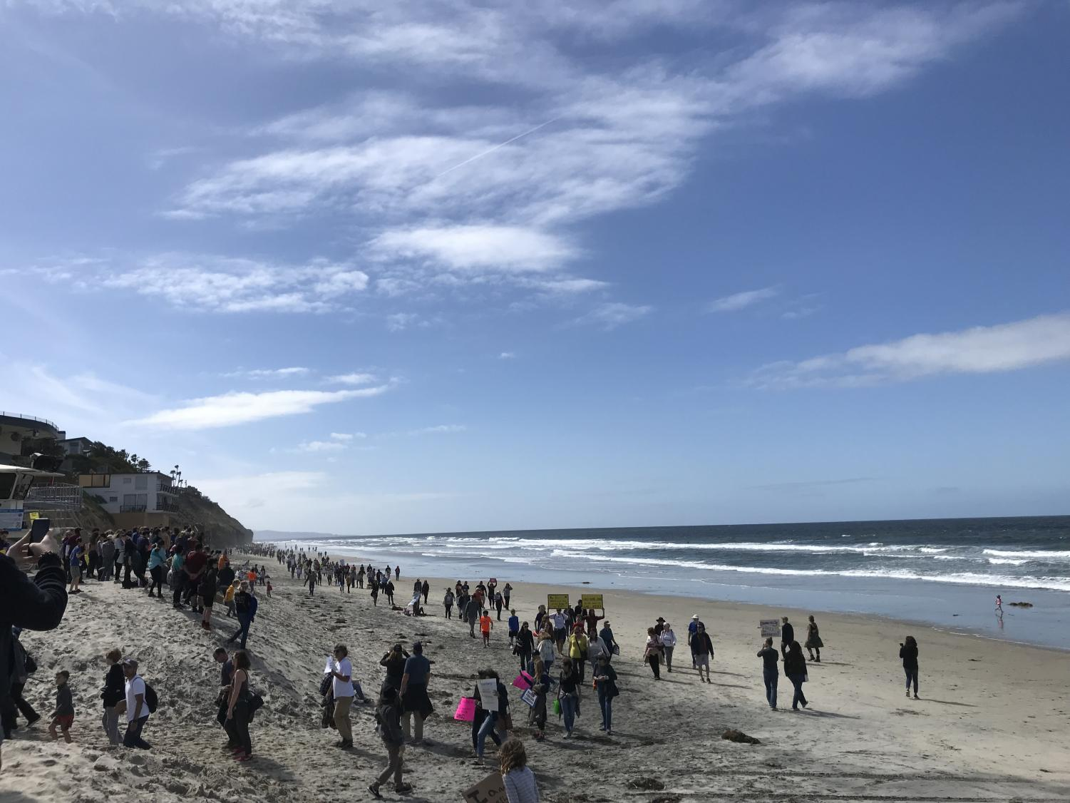 Protesters, including many SDA students, join the Encinitas March for Our Lives.