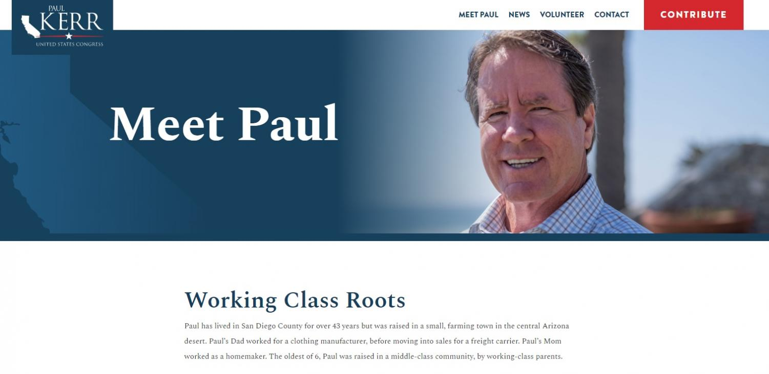 Paul Kerr is a democrat running for the House of Representatives.