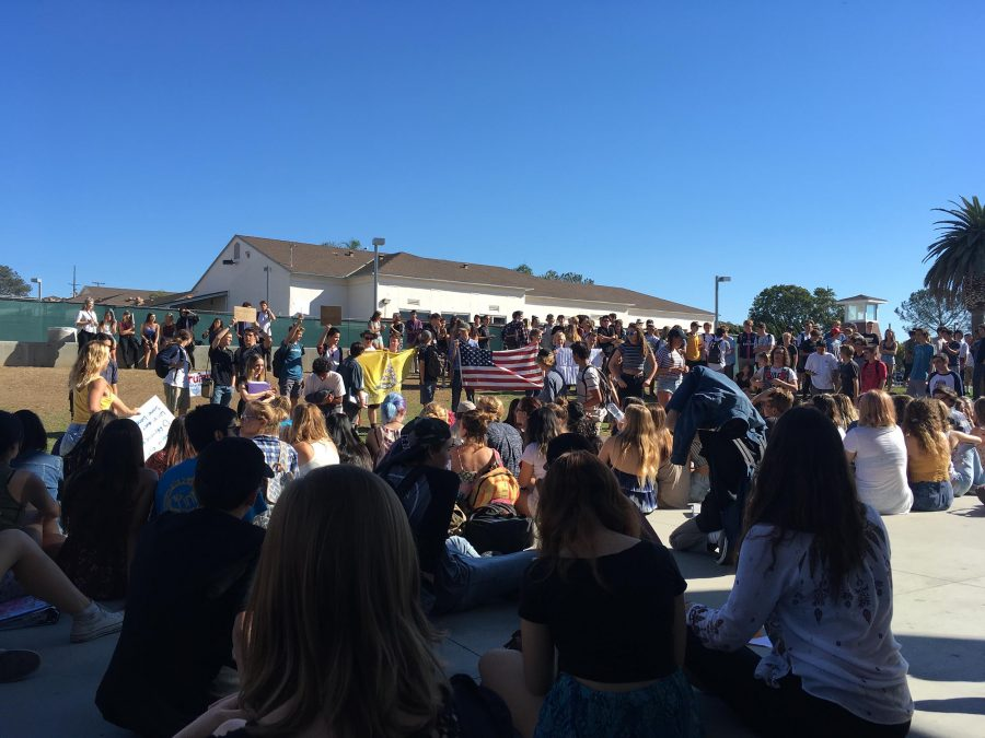 SDA students participated in a student walkout Nov. 2016 to protest then President-elect Donald Trump.