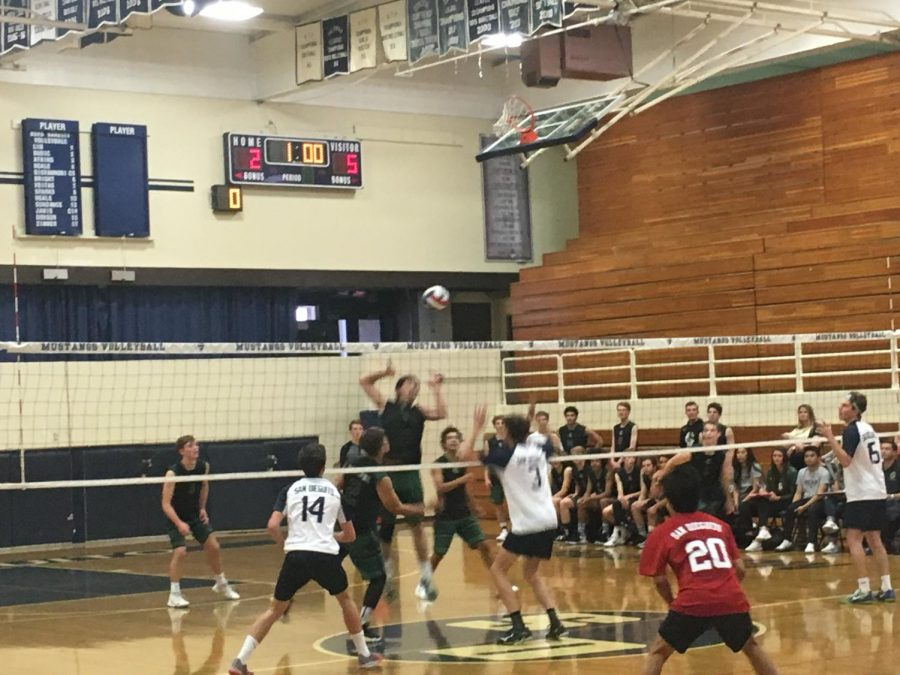 The SDA boys volleyball played against Sage Creek Friday.