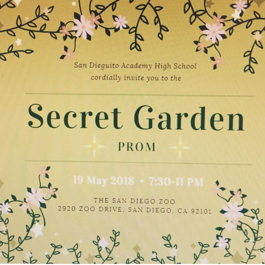 After backlash, the prom theme was changed from Bollywood to Secret Garden