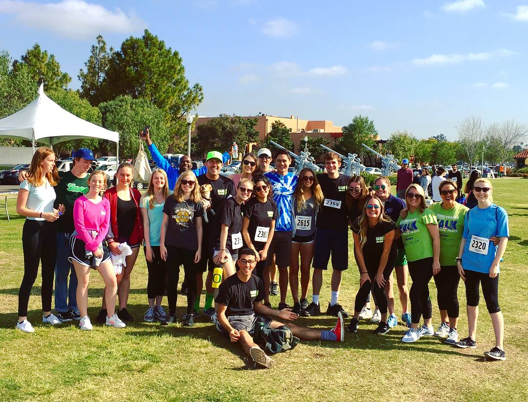 NAMI club members, friends, and dogs participated in the NAMI Walk San Diego on Saturday, April 28. The SDA team raised $600 for the organzation.