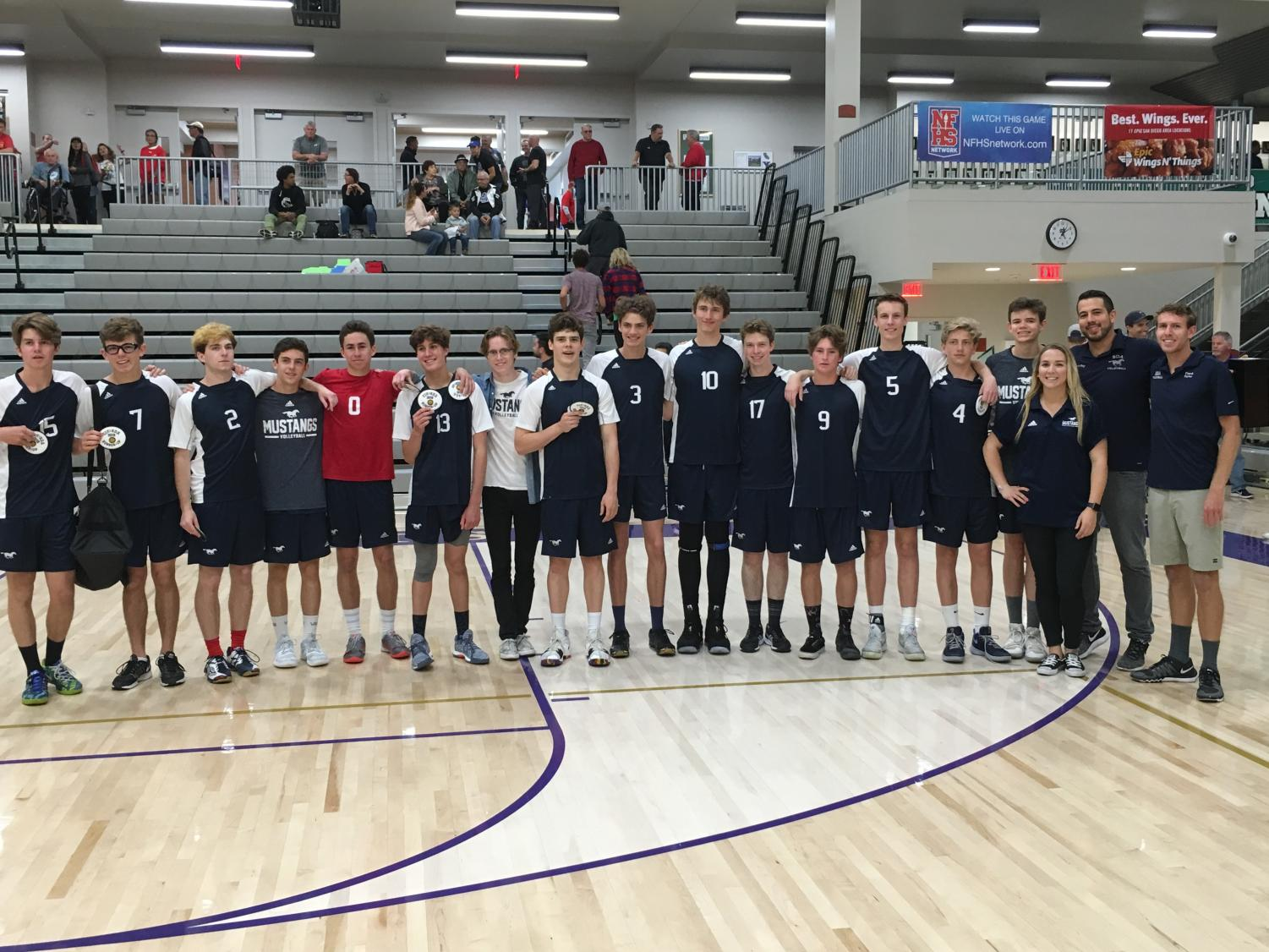 Boys volleyball competed in the CIF finals.