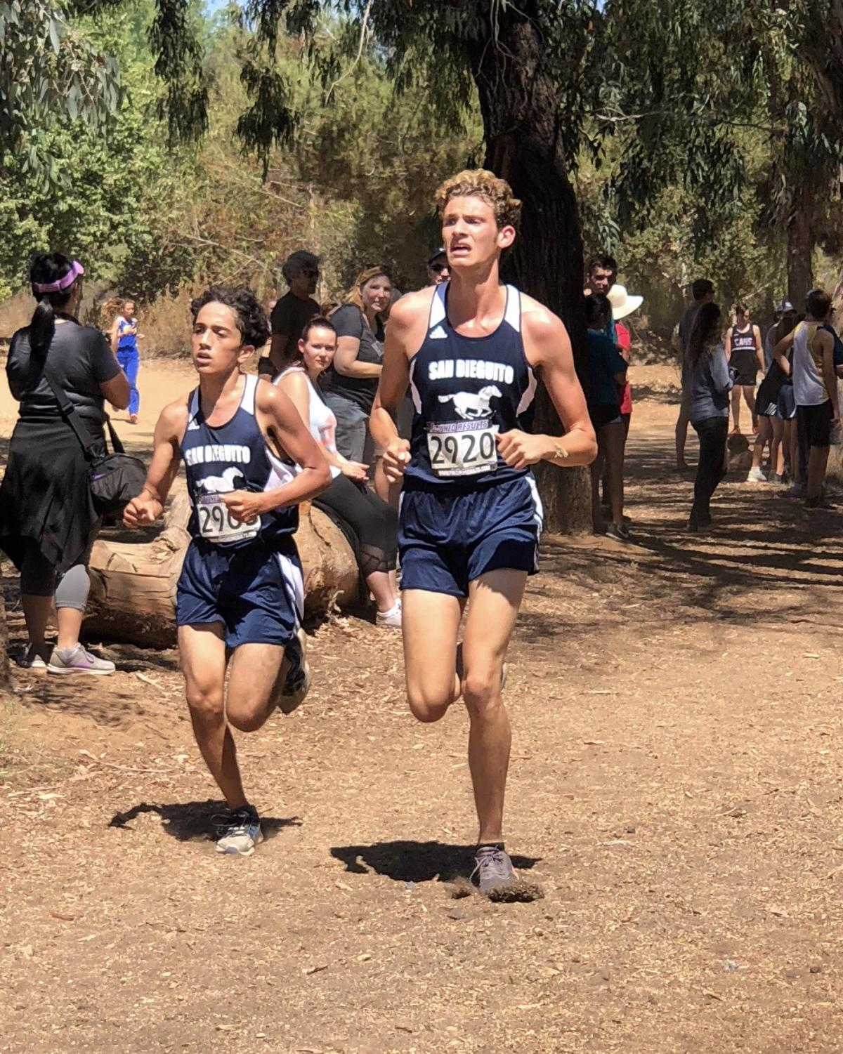 The Mustang cross country team competes in first meet of the season.