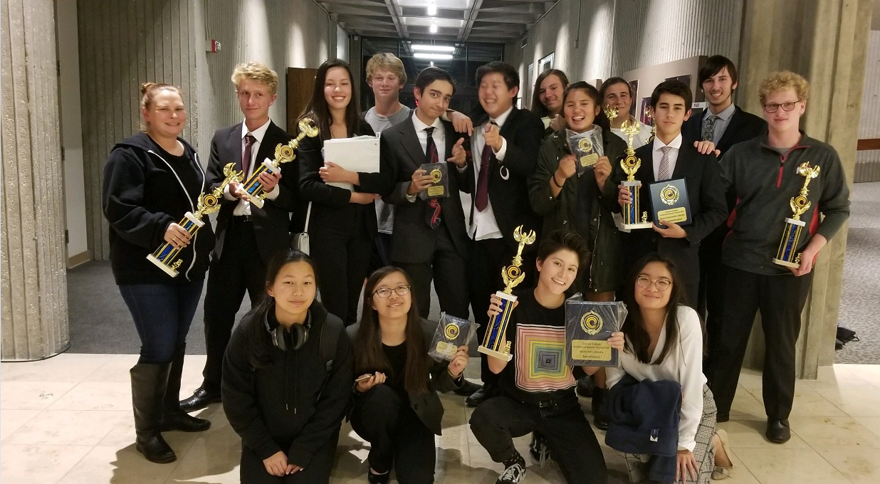 Twenty-two speech and debate students competed in a Tournament last weekend. Half of these students place- two even winning 1st place in their events.