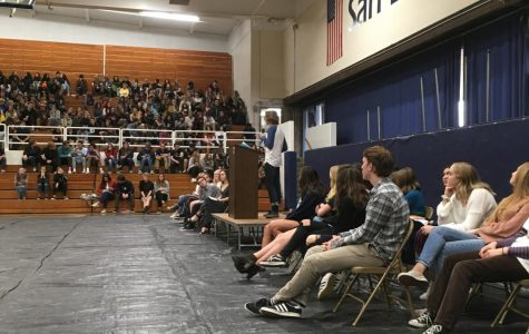 Candidates give speeches at the Nomination Convention Assembly