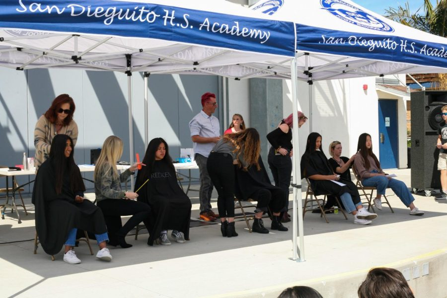 Students donate their hair to those in need