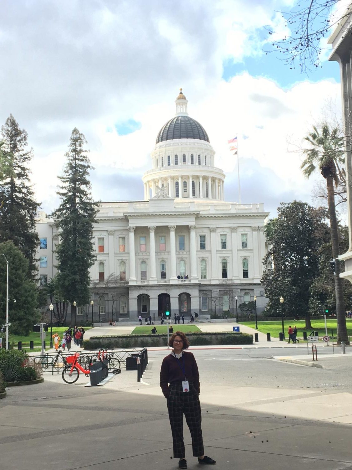 Junior Chloe Lighterink went to Sacramento on a trip with Youth and Government.