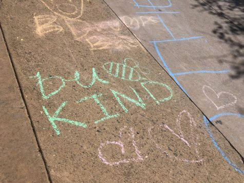 Kindness week sidewalk chalk activity gets out of hand