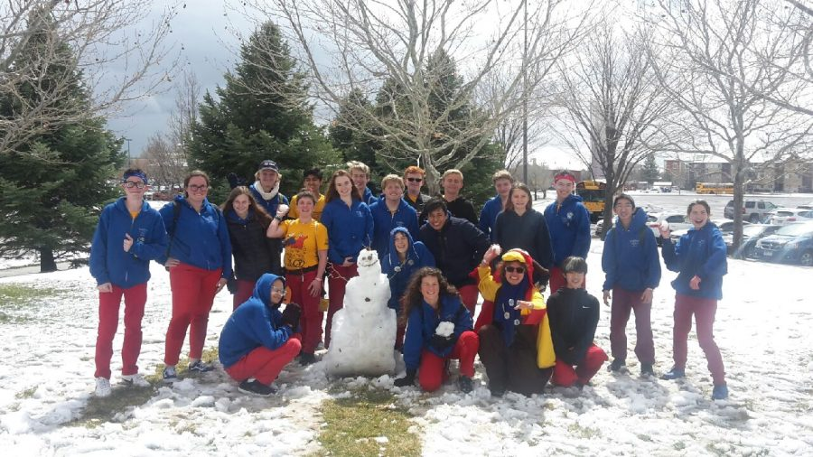 Paradoxians+created+a+snowman+between+qualification+matches+on+our+second+day+of+competition.