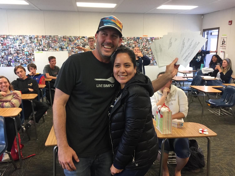 AP Psychology teacher James Hrzina (left) wins