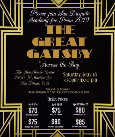 The last day to buy prom tickets is Wednesday, May 15th.
