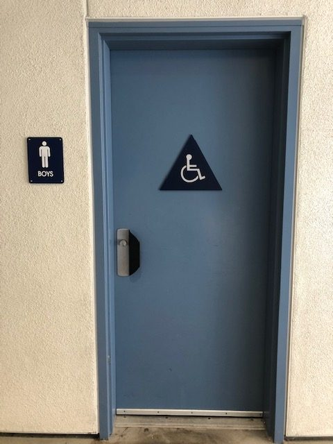 Vandalism causes shut down in boys bathroom