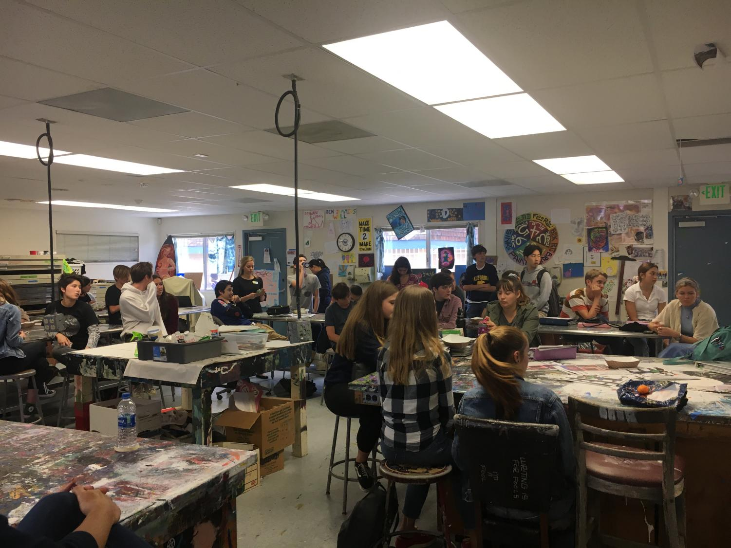 Today's student forum in P2 was centered around CAASPP testing and other topics.
