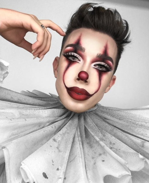 James Charles in Clown Makeup