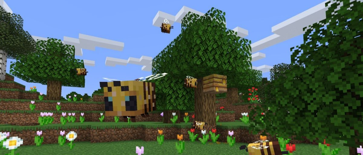 Beegone Minecraft Bees: The new edition of Minecraft has brought some very large bees.
