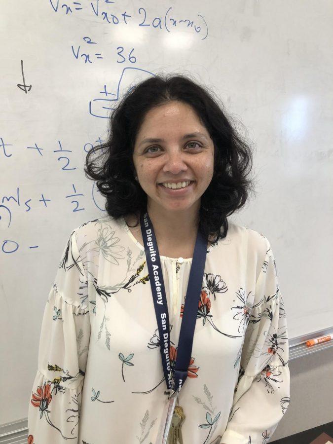 Our+newest+science+teacher%2C+Madhuri+Agashe%2C+is+teaching+physics.
