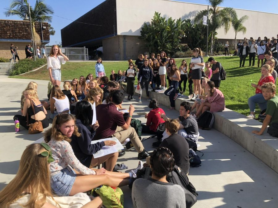 Some SDA students participated in the Global Walk-Out for Climate Change