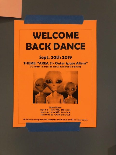 This year's Welcome Back dance is taking place on Friday.