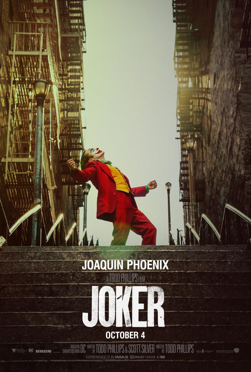 The Joker movie is in theaters now.