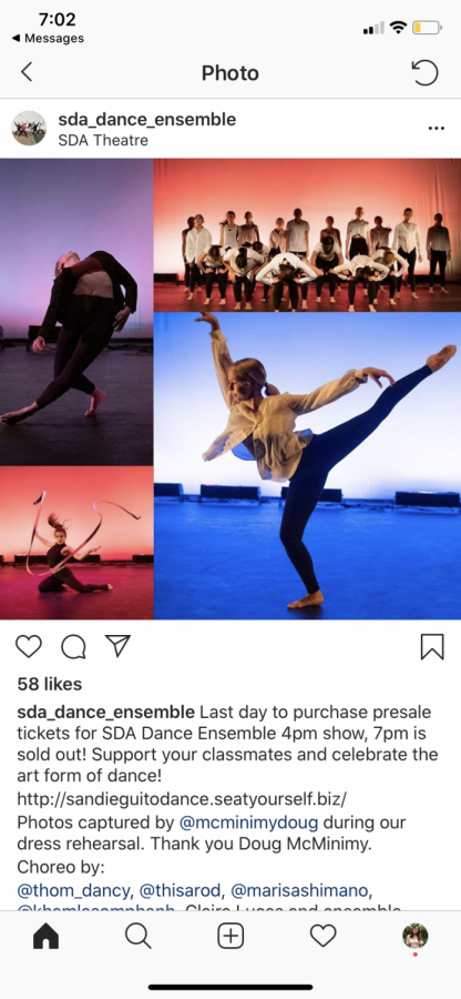 SDA+Dance+Ensemble+students+performing+during+a+dress+rehearsal.+