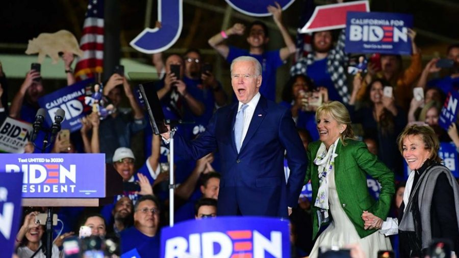 Joe Biden addresses his supporters after monumental victories on Super Tuesday