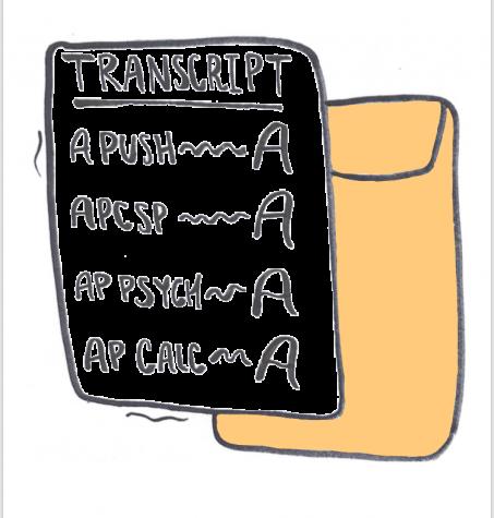 A transcript illustration