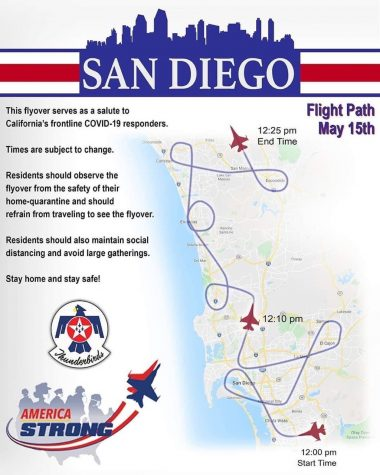 The Thunderbirds flight path today.