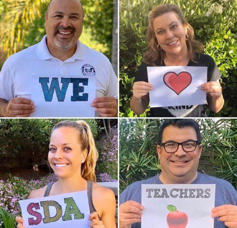 SDA admin recognizes SDA teachers virtually.
