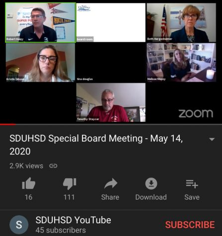 SDUHSD holds a special virtual board meeting over Zoom to discuss new changes to the grading policy.