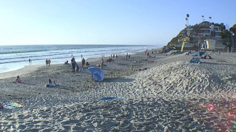 San Diego beaches have began to open up-- with restrictions.